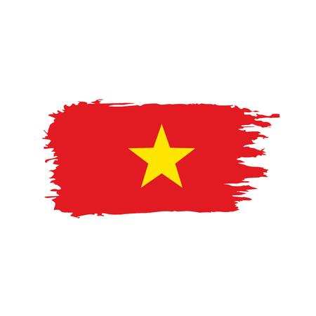Vietnam flag, vector illustration on a white background
