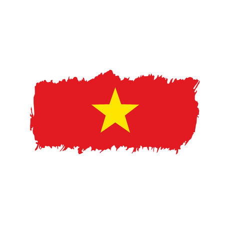 Vietnam flag, vector illustration on a white background