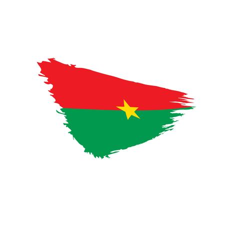 Burkina Faso flag, vector illustration on a white background Illustration