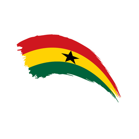 Ghana flag, vector illustration