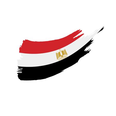Egypt flag, vector illustration