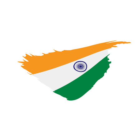 India flag, vector illustration on a white background Illustration
