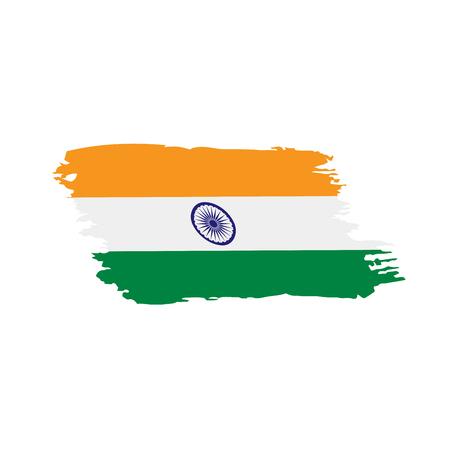 India flag, vector illustration on a white background Illustration
