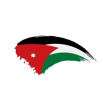 Jordan flag, vector illustration on a white background