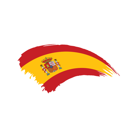 spain flag, vector illustration on a white background Banco de Imagens - 96594791