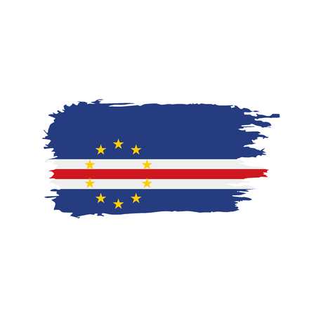 Cape Verde flag in a grunge paint stroke style vector illustration