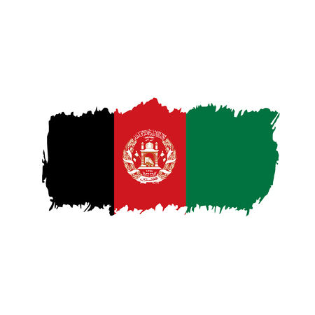 Afghanistan flag, vector illustration 일러스트