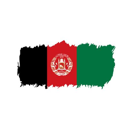 Afghanistan flag, vector illustration Illustration
