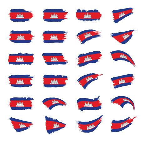 Cambodia flag, vector illustration Vettoriali