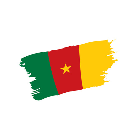 Cameroon flag, vector illustration on a white background Illustration