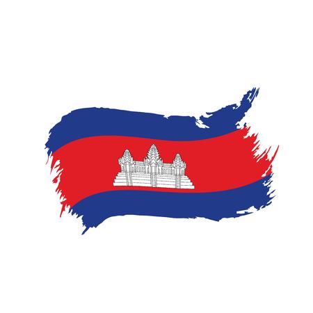 Cambodia flag, vector illustration Ilustrace