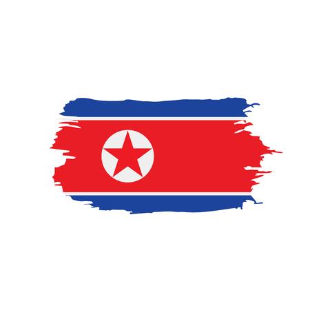North Korea flag, vector illustration.