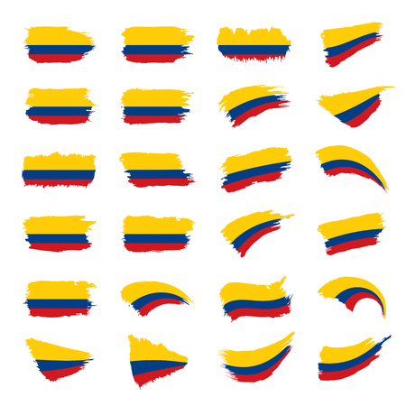 Colombia flag, vector illustration Vectores