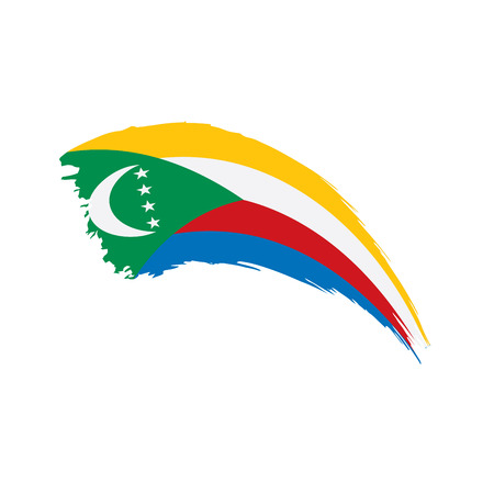 Comoros flag, vector illustration Illustration