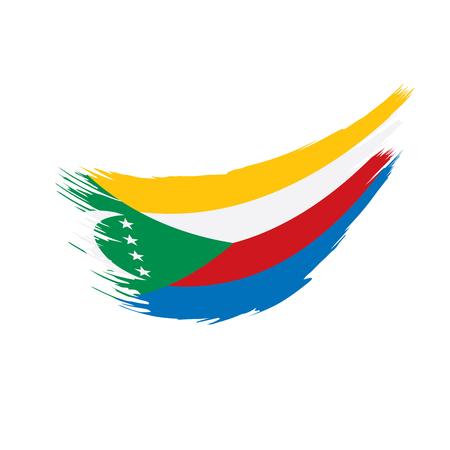 Comoros flag, vector illustration  イラスト・ベクター素材