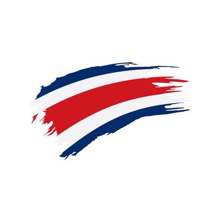 Costa Rica flag, vector illustration