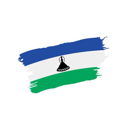 Lesotho flag, vector illustration isolated on plain background.