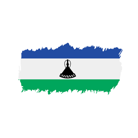 Lesotho flag, vector illustration isolated on plain background.