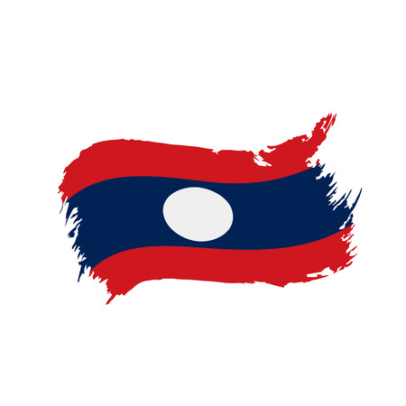Laos flag, vector illustration