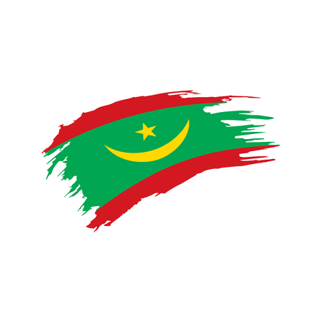 Mauritania flag, vector illustration isolated on plain background.  イラスト・ベクター素材