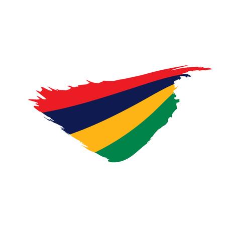 Mauritius flag, vector illustration isolated on plain background.