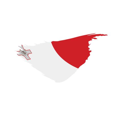 Malta flag, vector illustration