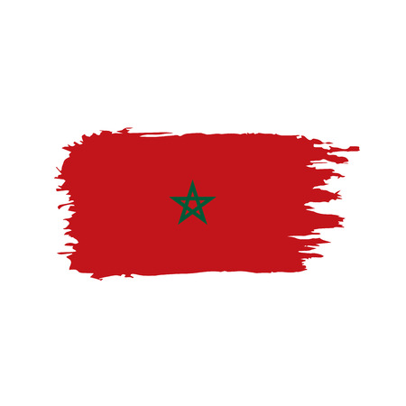 Morocco flag, vector illustration