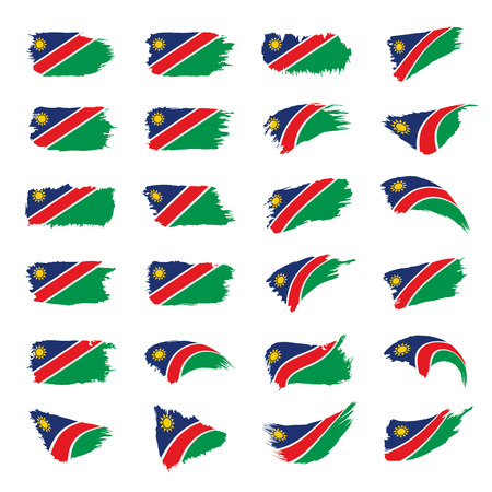 Namibia flag, vector illustration on a white background 일러스트