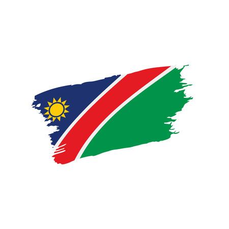 Namibia flag, vector illustration on a white background Illustration