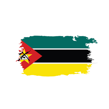 Mozambique flag on white background, vector illustration. Illustration