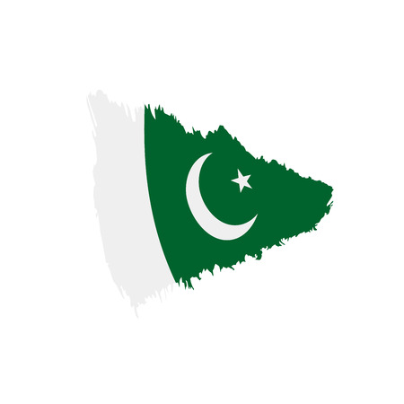 Pakistan flag on white background, vector illustration. Фото со стока - 96906055