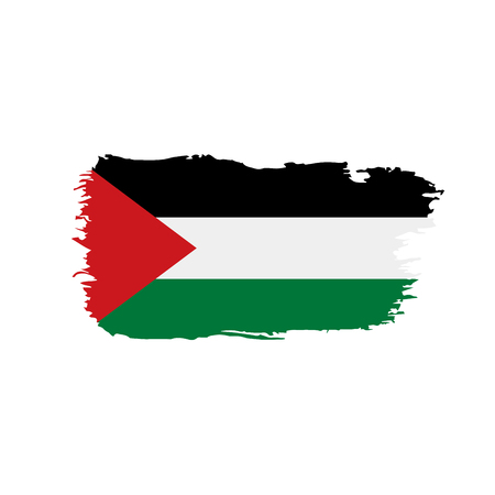 Palestine flag  on white background, vector illustration.