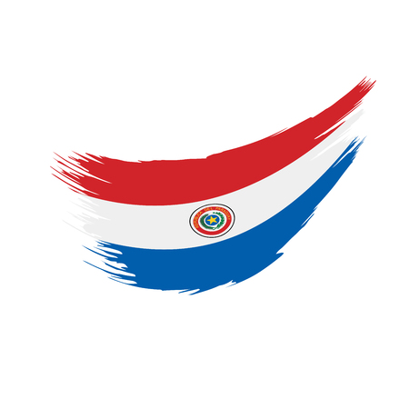Paraguay flag, vector illustration