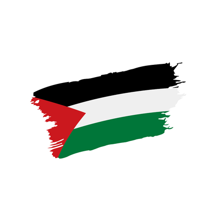 Palestine flag, vector illustration
