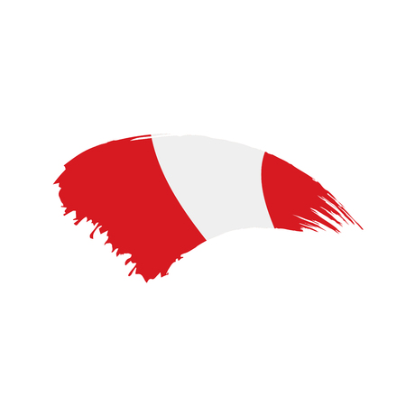 Peru flag, vector illustration 일러스트