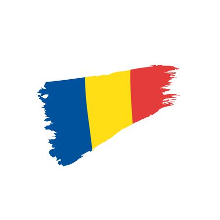 Romania flag, vector illustration Illustration