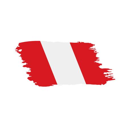 Peru flag, vector illustration Vectores