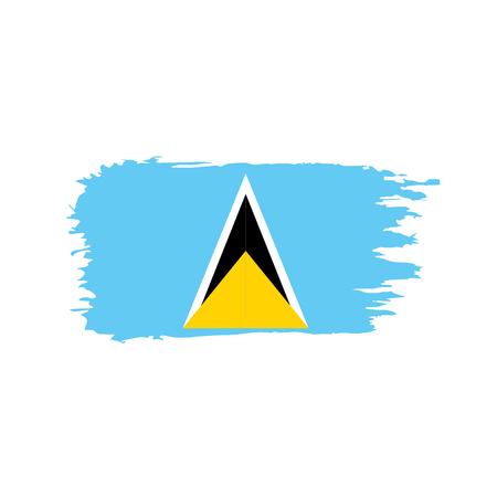 Saint Lucia flag, vector illustration on a white background