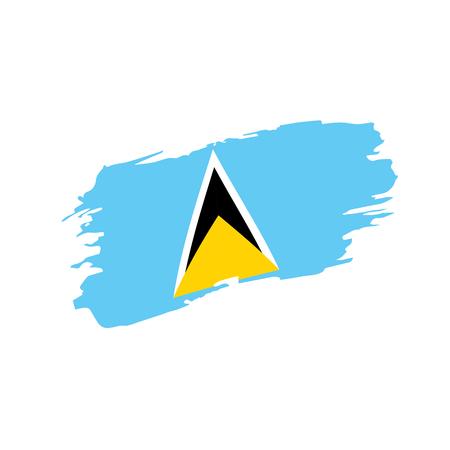 Saint Lucia flag, vector illustration  イラスト・ベクター素材