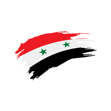 Syria flag, vector illustration