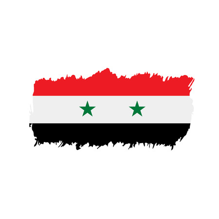 Syria flag, vector illustration on a white background 일러스트