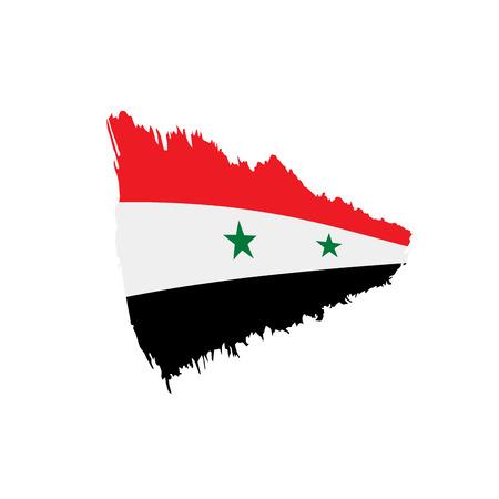 Drapeau de la Syrie, illustration vectorielle sur fond blanc Banque d'images - 96919530