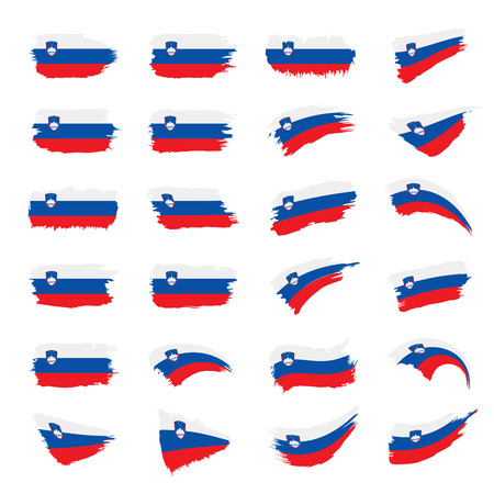 Slovenia flag, vector illustration on a white background
