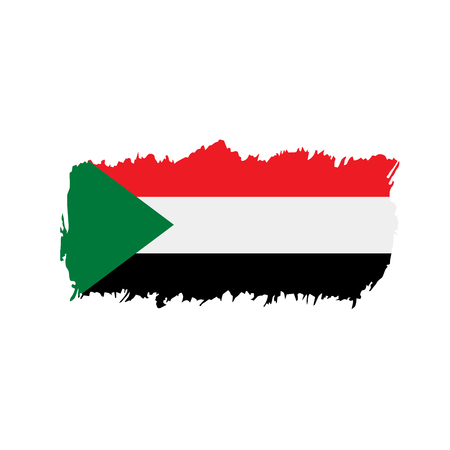 Sudan flag, vector illustration Illustration
