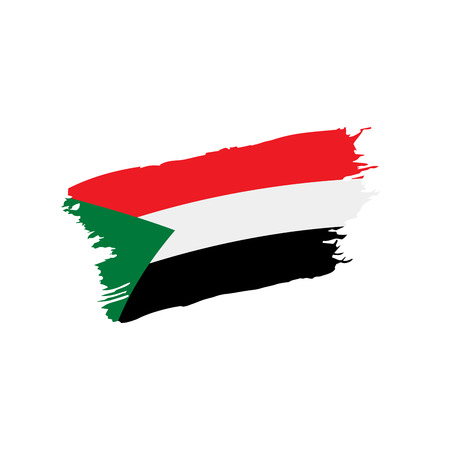 Sudan flag, vector illustration on a white background