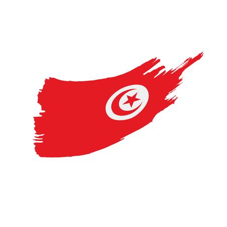 Tunisia flag, vector illustration