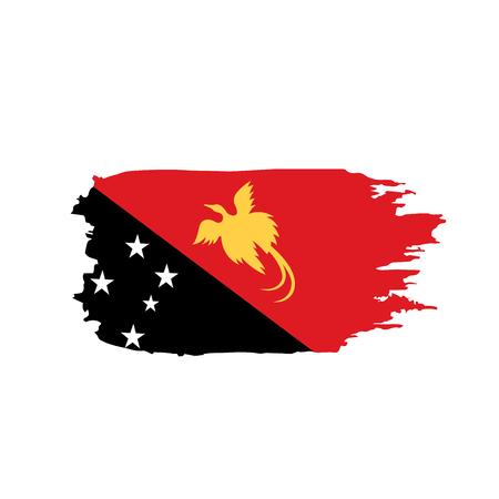 Papua New Guinea flag vector isolated on plain background.