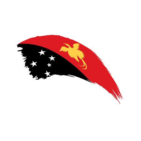 Papua New Guinea flag, vector isolated on plain background. Illustration