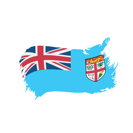 Fiji flag, vector illustration on a white background 向量圖像