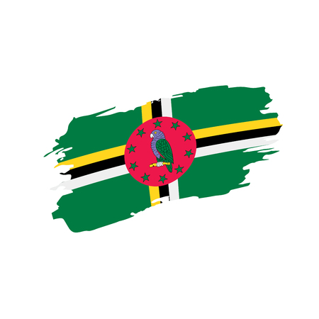 Dominica flag, vector illustration